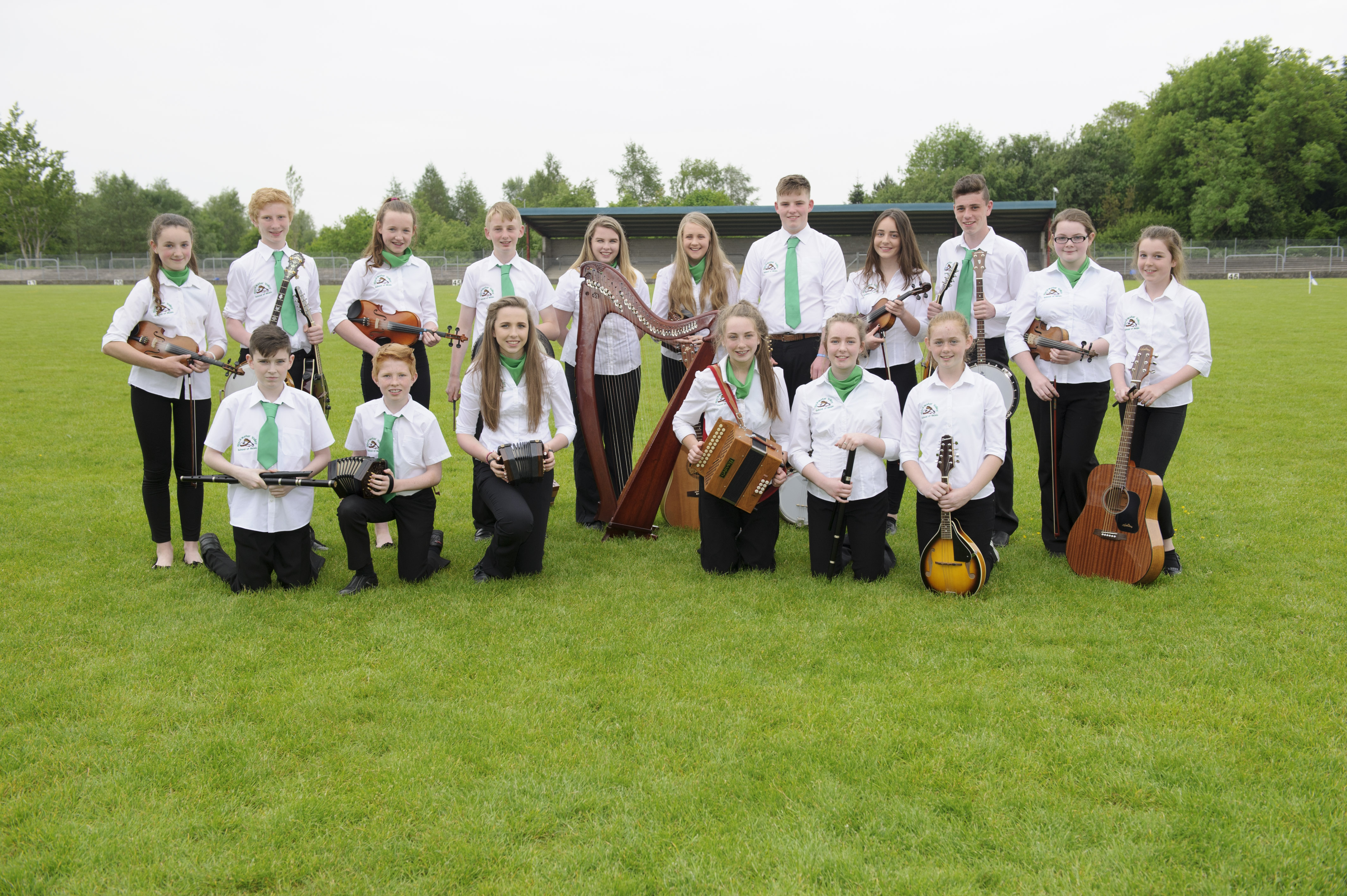 The members of the Blackwater Valley U-18 Grúpa Ceoil, at the Co Fleadh. ©Rory Geary/The Northern Standard