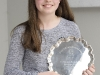 Ella Harvey, who was the winner of the U-12 English Singing. ©Rory Geary/The Northern Standard