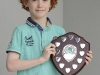 Éanna Curran, Tullycorbet CCE, who was the U-9 Tin Whsitle winner. ©Rory Geary/The Northern Standard