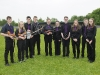 The members of the Ceoltóirí Drumlin Ceile Band, who were winners of the U-15 competition. ©Rory Geary/The Northern Standard