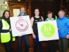 At the Monaghan Operation Transformation Walk last Saturday morning were (L-R) Lindsay Duffy, Monaghan Sports Partnership, Cllr Sean Conlon, Monaghan Sports Partnership, Sharon Williamson, Coral Leisure, Monaghan, Michelle Murphy, Monaghan Sports Partnership and Eamon Hackett, Monaghan Sports Partnership.