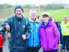 Hugh Coyle, left, with Owen and Ann Smyth, at the Monaghan Phoenix AC Goal Mile. ©Rory Geary/The Northern Standard