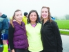 Pictured at Monaghan Phoenix AC Goal Mile were (L-R) Rosie McCarthy, Ruth O'Neill and Meave O'Neill. ©Rory Geary/The Northern Standard