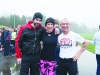 At the Monaghan Phoenix AC Goal Mile on St Stephen's Day were Darrell Duffy, Deirbhle Duffy and Paddy Hughes. ©Rory Geary/The Northern Standard