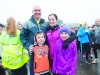 Jason Hughes with Andrea, Alfie and Hazel Hughes, at the Monaghan Phoenix AC Goal Mile, at the Beech Hill Running track on St Stephen's Day. ©Rory Geary/The Northern Standard