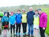 At the Monaghan Phoenix AC Goal Mile on St Stephen's Day were (L-R) Luke, Michael, Mark and Ann McManus, Kevin Skully and Liam and Emer Conway. ©Rory Geary/The Northern Standard