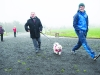 Kieran McMahon taking part in the Monaghan Phoenix AC Goal Mile on St Stephen's Day. ©Rory Geary/The Northern Standard