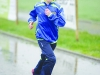 One of the young runners taking part in the Monaghan Phoenix AC Goal Mile. ©Rory Geary/The Northern Standard