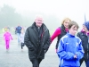Fr Paudge Corrigan taking part in the Monaghan Phoenix AC Goal Mile at the Beech Hill Running Track. ©Rory Geary/The Northern Standard