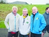 At the Monaghan Phoenix AC Goal Mile on Boxing Day were (L-R) Dessie McAree, Peadar Treanor and Barry Evans. ©Rory Geary/The Northern Standard