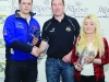 Runners-up in the Junior Class, Martin Swinburne and Gretchen Fegan, are presented with their awards by Conor Maguire, centre. ©Rory Geary/The Northern Standard