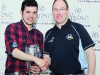 Conor Maguire, right, making the presentation for winners of Class 12 to Thomas Wedlock. Missing from photo is Alan Atcheson. ©Rory Geary/The Northern Standard