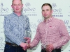 Diarmuid Leane, left, making the presentation for 3rd in Class 12 to Bryan Jardine. Missing from photo is Lloyd Cochrane. ©Rory Geary/The Northern Standard