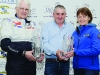 Thomas Treanor, centre, presenting winners of Class 3 Roger Kennedy and Wendy Blackledge with their awards. ©Rory Geary/The Northern Standard