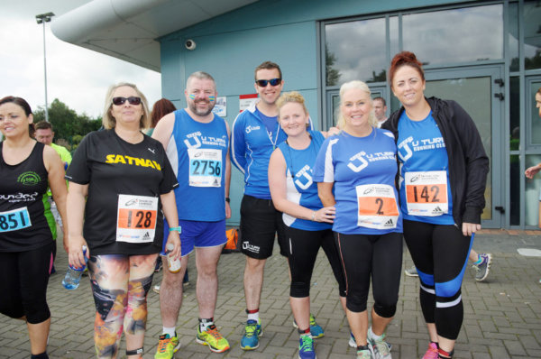 At the Monaghan 10 Miler were (L-R) Teresa, Eamon, Sean, Áine, Rachel and Joanne from U-Turn Running Club, Derry. ©Rory Geary/The Northern Standard