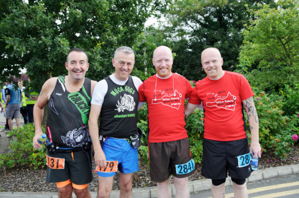 At the Monaghan 10 Miler were (L-R) Kevin Kierans, Cathal McEnhill, Neil and Gary McSorley. ©Rory Geary/The Northern Standard