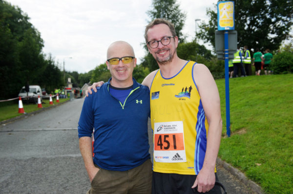 Chris Connolly and Paul Bond from Monaghan Town Runners at the Monaghan 10 Miler. ©Rory Geary/The Northern Standard