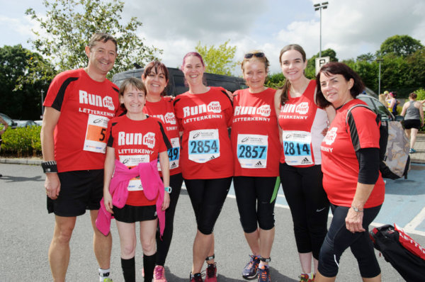 Members of the Run For Fun Club from Letterkenny. ©Rory Geary/The Northern Standard