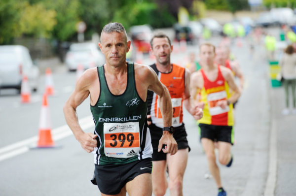 David Slater from Enniskillen, during the Monaghan 10 Miler. ©Rory Geary/The Northern Standard