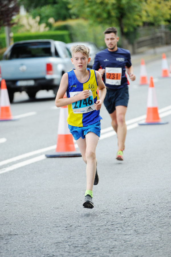 Aaron Hall from Clones AC, taking part in the 5 Mile race. ©Rory Geary/The Northern Standard