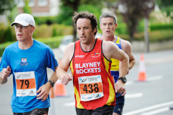 Leo Farrell, left and Damien Connolly from Blayney Rockets, during the Monaghan 10 Miler. ©Rory Geary/The Northern Standard