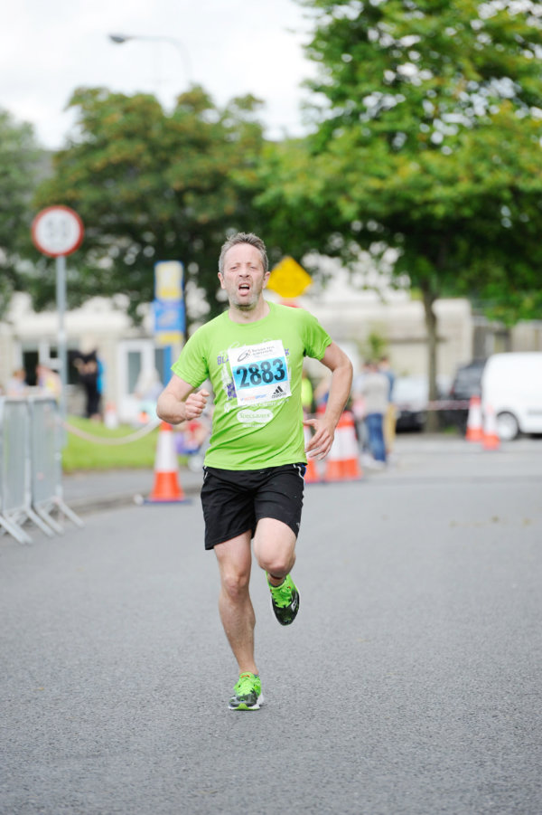 Mark Scullion as he finished the 5 Mile race. ©Rory Geary/The Northern Standard
