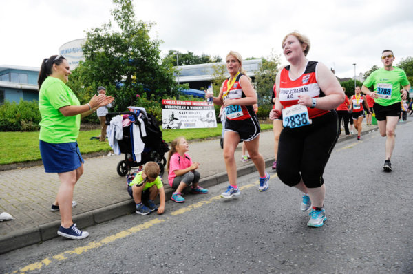 Some of the spectators giving support to the runners at the Monaghan 10 Miler. ©Rory Geary/The Northern Standard