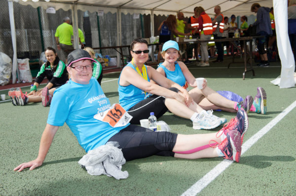 Pictured after the Monaghan 10 Miler were (L-R) Geraldine McAree, Bernie Woods and Pauline O'Brien from the Glaslough Harriers Jolly Joggers. ©Rory Geary/The Northern Standard