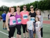 At the Monaghan 10 Miler were (L-R) Patrica McGoldrick, Caroline Gallen, Ann Marie McCullagh, Grace, Bronagh and Alice McAtee and Cara McCarney. ©Rory Geary/The Northern Standard