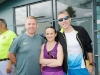At the Monaghan 10 Miler were (L-R) Brendan Logue, Tina McCaul and Paul Woods from Derry. ©Rory Geary/The Northern Standard