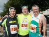 Eugene Houdi McCabe, Ian Morgan and Barney McCabe at the Monaghan 10 Miler, last Sunday. ©Rory Geary/The Northern Standard