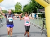 Clifford Patterson and Joanne Hardy as the crossed the finishline of the 5 Mile race. ©Rory Geary/The Northern Standard