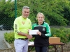 Eithne McGorman, Carrick Aces, receiving 1st prize for Female Over-35 from Colm Mahoney, Monaghan Town Runners. ©Rory Geary/The Northern Standard