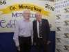 Paul Phelan and Ronnie Hawe at the Monaghan Motor-club 60th gala ball. ©Rory Geary/The Northern Standard