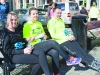 At the Monaghan Town Runners Crocus 5k were (L-R) Michelle McCabe, Chloe Beggan and Niall McCabe. ©Rory Geary/The Northern Standard