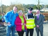 At the start of the Monaghan Town Runners Crocus 5k were (L-R) Ollie Gleeson, Monaghan Town Runners, Mary Callery, Crocus, Sgt Micheal O'Reilly and Colr Robbie Gallagher. ©Rory Geary/The Northern Standard