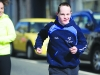 One of the group taking part in the Monaghan Town Runners Crocus 5k. ©Rory Geary/The Northern Standard