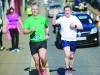 Brian Peppard and Damien Barry, Monaghan Phoenix AC, taking part in the Monaghan Town Runners Crocus 5k. ©Rory Geary/The Northern Standard