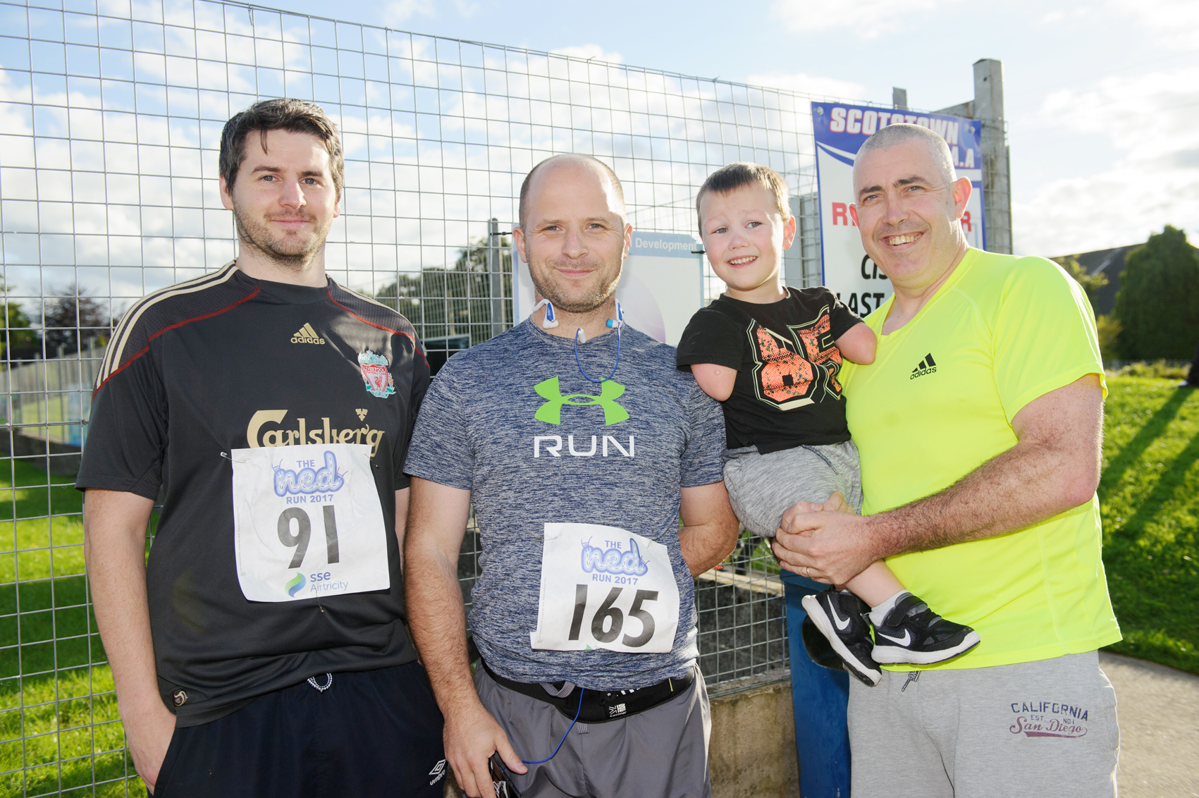 At The Ned Run were (L-R) Gregory O'Neill, Gary Murray and Daire and Kenny Gorman. ©Rory Geary/The Northern Standard