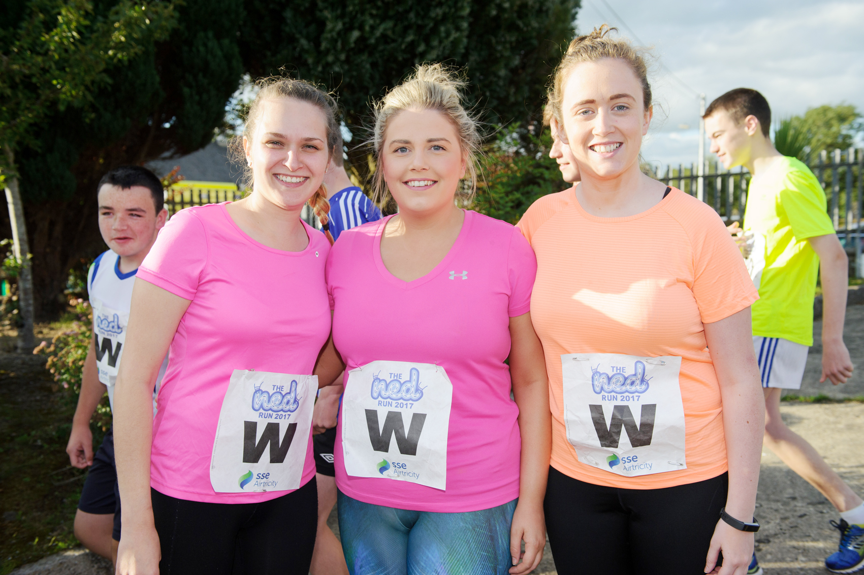 At The Ned Run in Scotstown were (L-R) EricaMcKenna, Laura McKenna and Rose McKenna. ©Rory Geary/The Northern Standard
