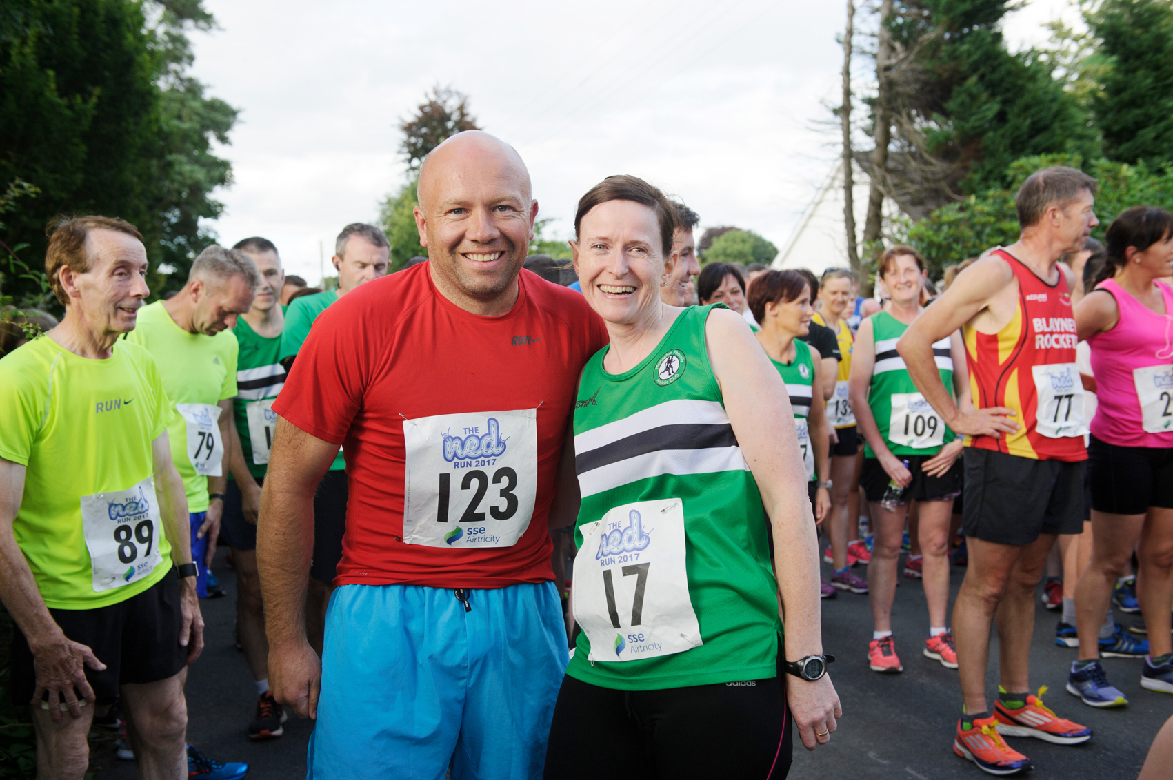 Nicolas Corrigan and Marie McArdle at The Ned Run. ©Rory Geary/The Northern Standard