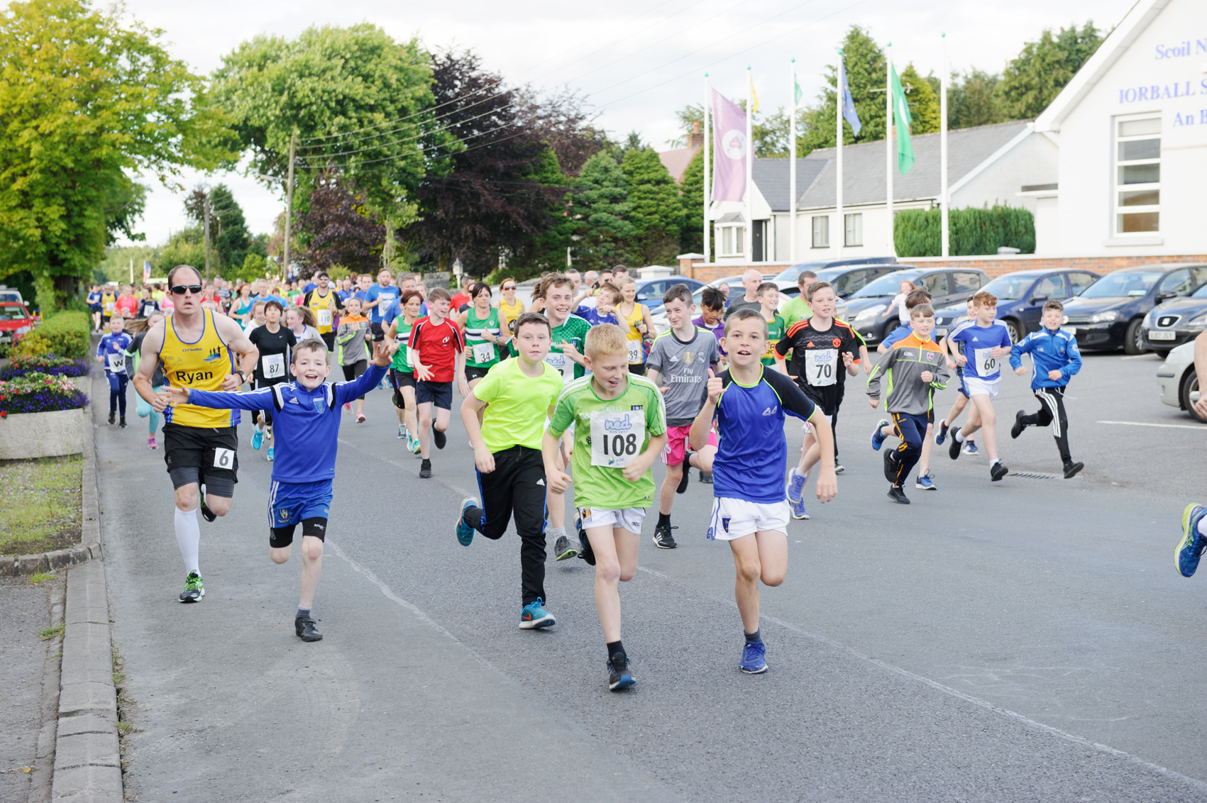 Some of the runners starting The Ned Run, last Friday. ©Rory Geary/The Northern Standard