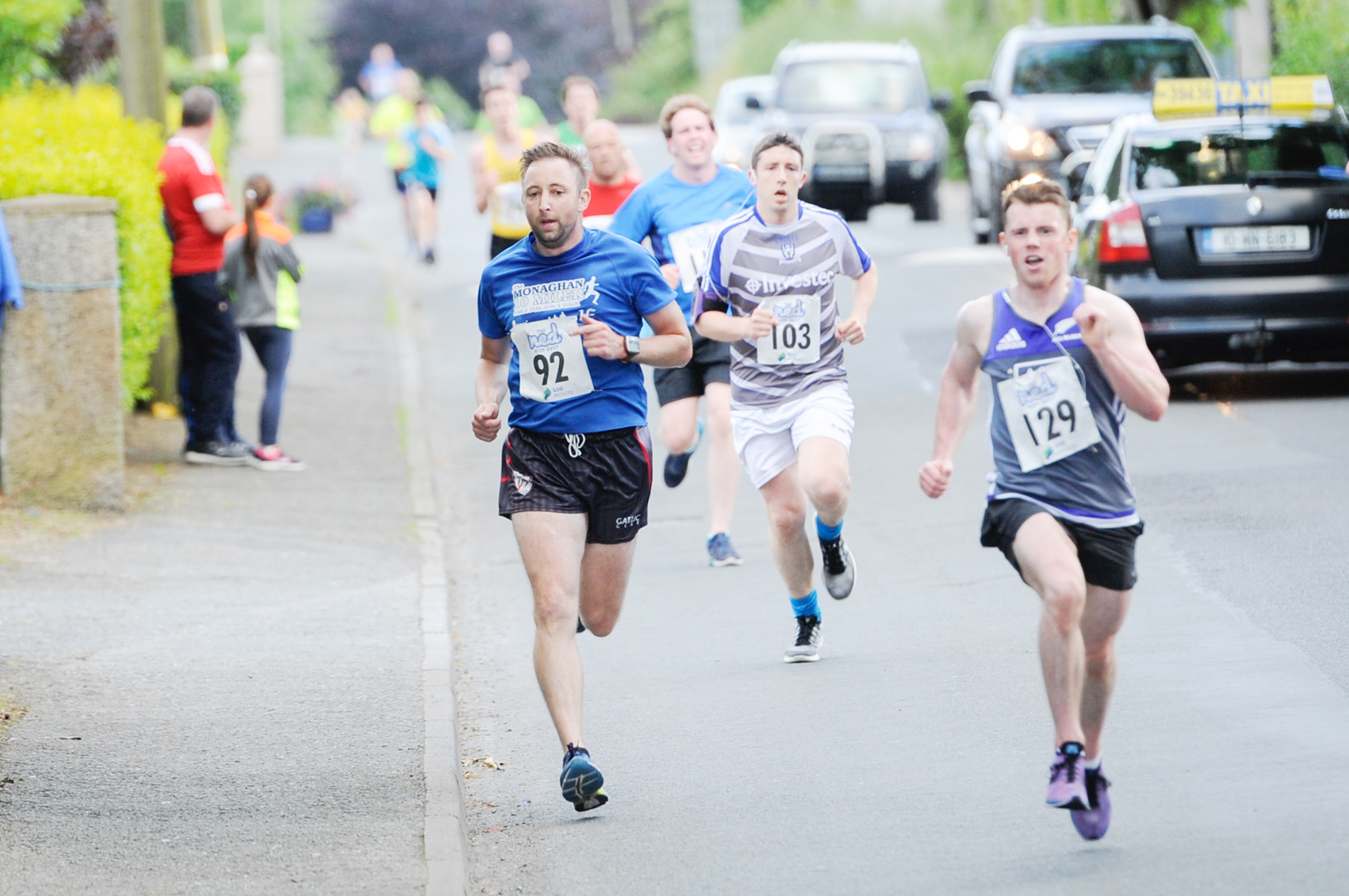 Some of the runners finishing The Ned Run in Scotstown, last Friday evening. ©Rory Geary/The Northern Standard