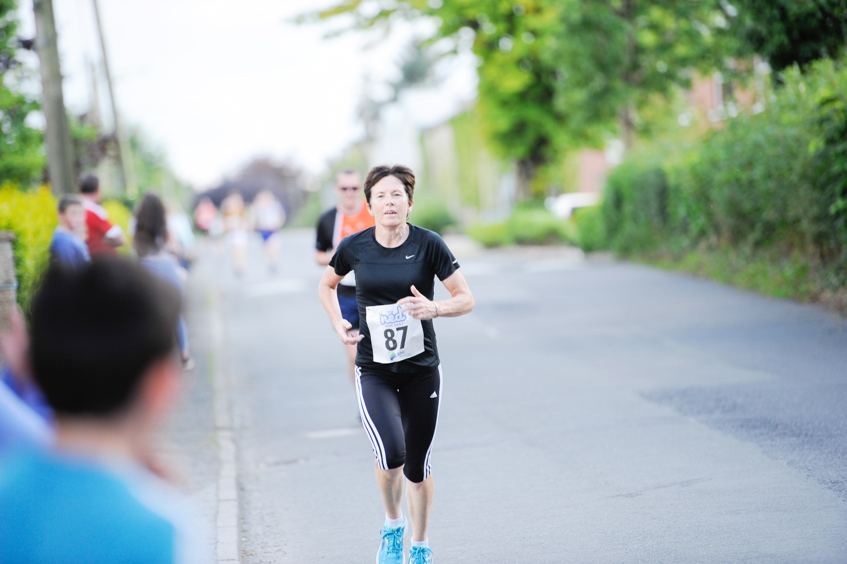Ellen McElroy as she reached the finish of The Ned Run. ©Rory Geary/The Northern Standard