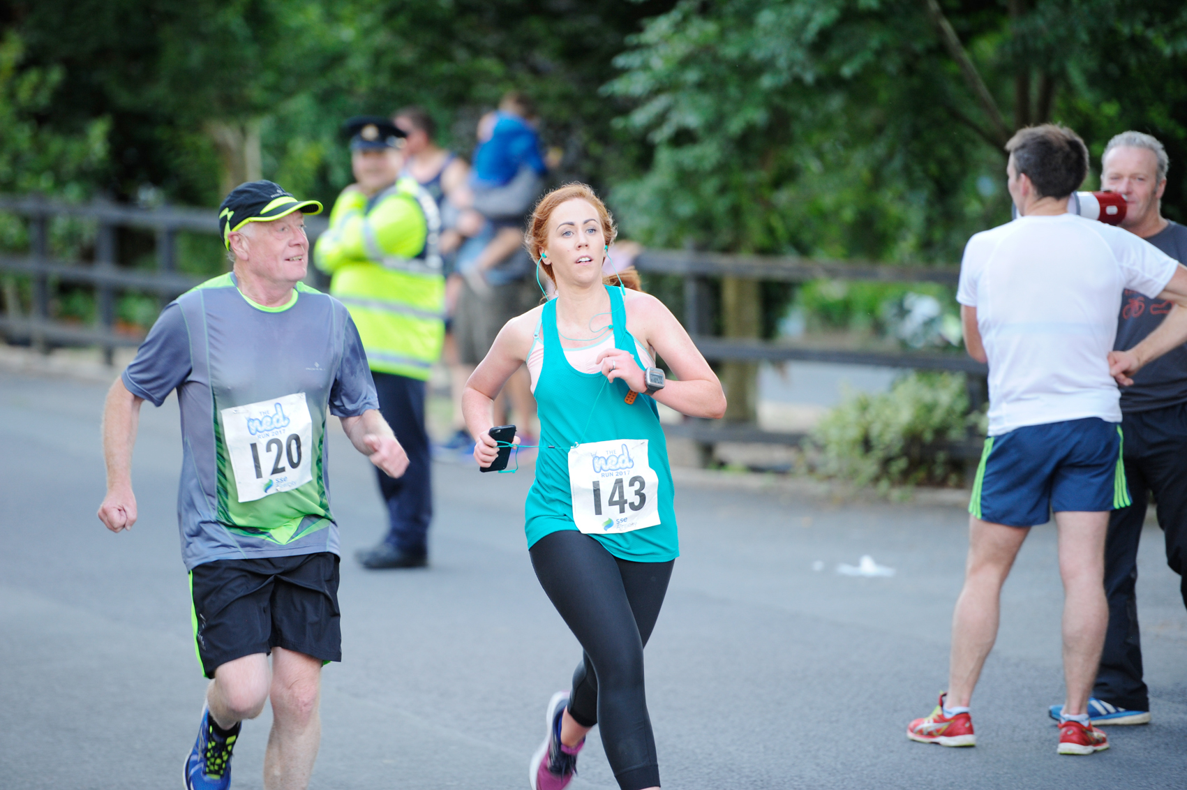 Niall Maguire and Emma Rooney finishing The Ned Run. ©Rory Geary/The Northern Standard