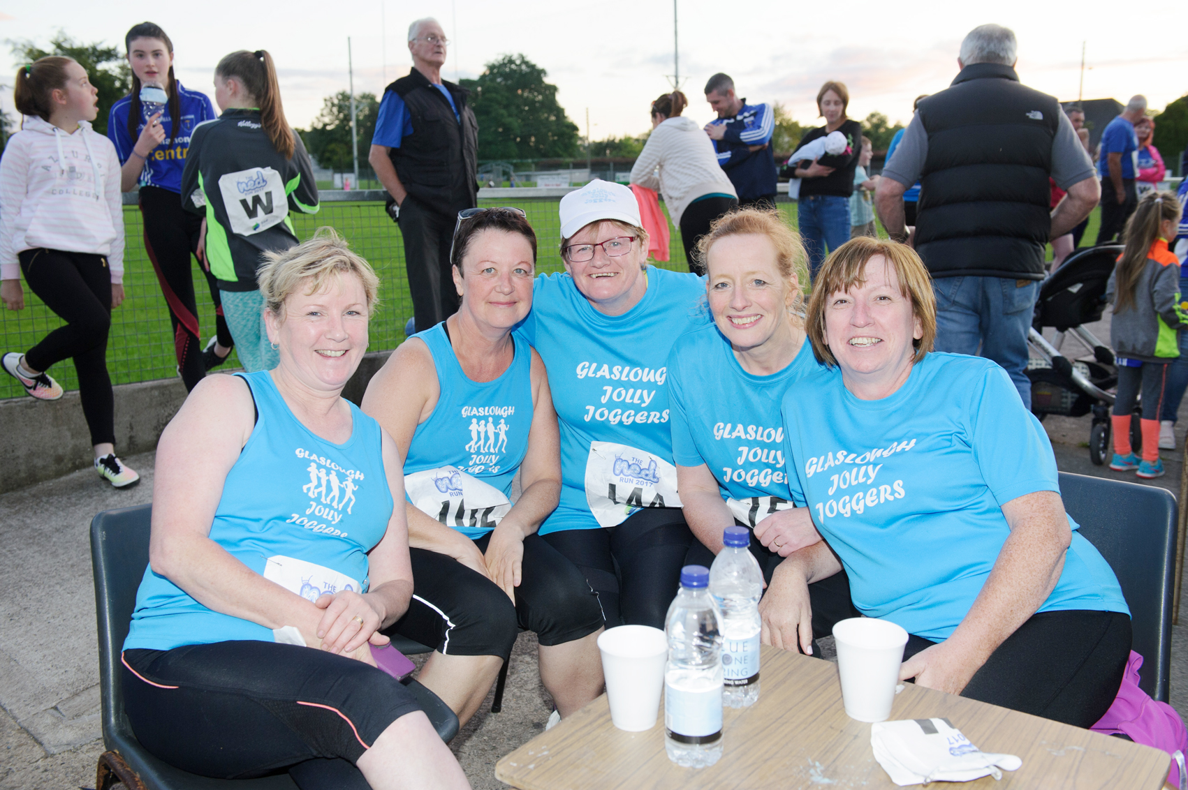At The Ned Run from Glaslough Harriers Jolly Joggers were (L-R) Sarah McCrudden, Bernie Woods, Geraldine McAree, Kate McAree and Patrica Connolly. ©Rory Geary/The Northern Standard
