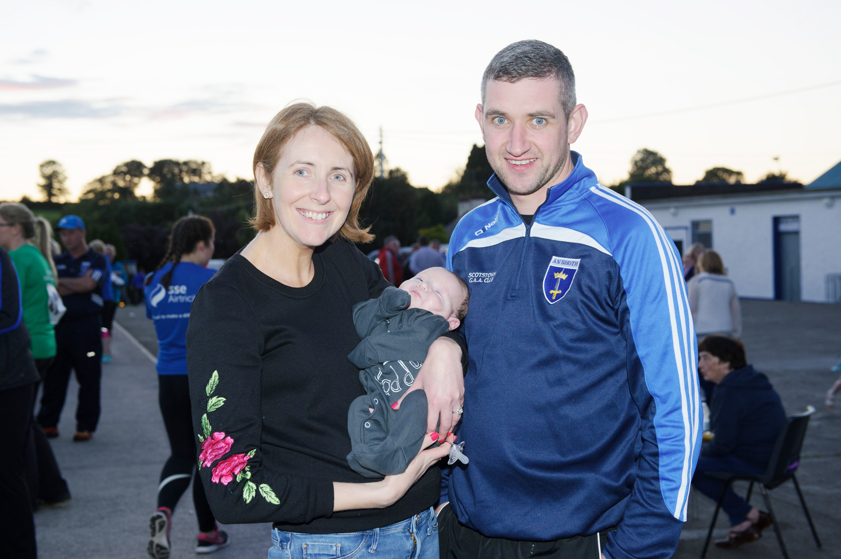 Majella, Evan and Edna Meehan at The Ned Run in Scotstown last Friday. ©Rory Geary/The Northern Standard