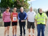 At The Ned Run were (L-R) Sarah Flanagan, Nicola Flanagan, Michael Owen McMahon, Eugene McKenna and Sean Murphy. ©Rory Geary/The Northern Standard