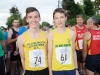 Matthew Connolly and Liam McKenna from Glaslough Harriers at The Ned Run. ©Rory Geary/The Northern Standard