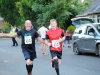 Gabriel McAree and Frank Treanor, finishing The Ned Run, last Friday. ©Rory Geary/The Northern Standard